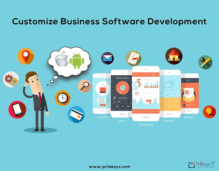 Customize Business Software Development Pridesys IT has started its journey to android apps development with its proficient expertise.