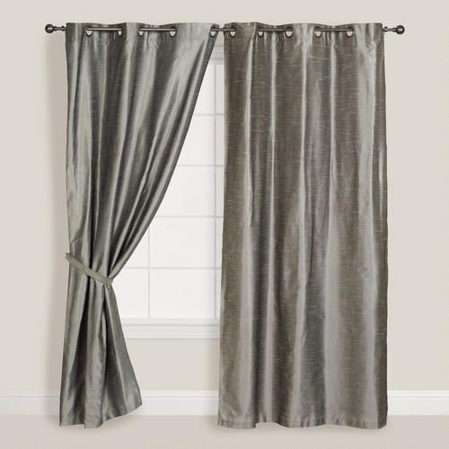 """Silver Dupioni Grommet Curtain (World Market.com), 48""""x84"""" = $24.99 (would need 2 for master bedroom)"""