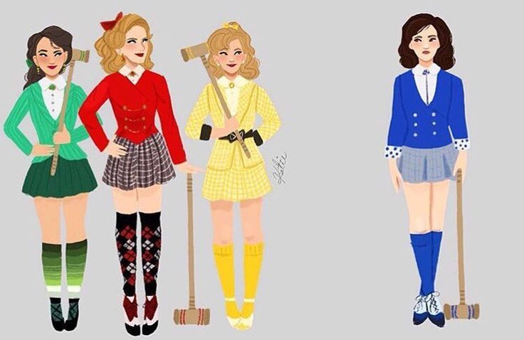 Really cute Heathers the Musical artwork!