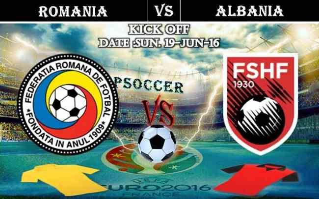 Romania vs Albania 19.06.2016 Free Soccer Predictions, head to head, preview, predictions score, predictions under/over EURO Cup Group Stages