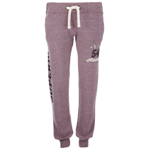 Superdry Women's Ombre Sparkle Tokyo Joggers - Aubergine Marl ($50) ❤ liked on Polyvore featuring activewear, activewear pants, purple, cuffed sweatpants, purple sweatpants, marled sweatpants, superdry and jogger sweatpants