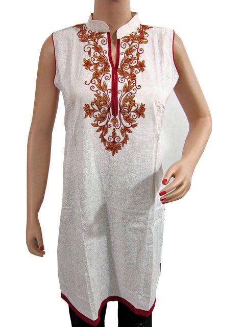 Embroidered Tunicindian Tuniccotton Kurtawomenu0026#39;s Tuniclatest Kurti Designs $24.99 | Boho Top ...