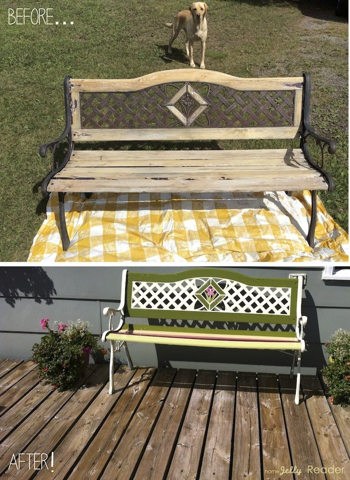 HomeJelly Reader Park Bench Rehab before and after s so fun to inspi
