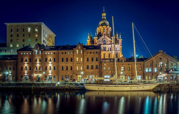 Helsinki by Night by Patrick Asselin on 500px