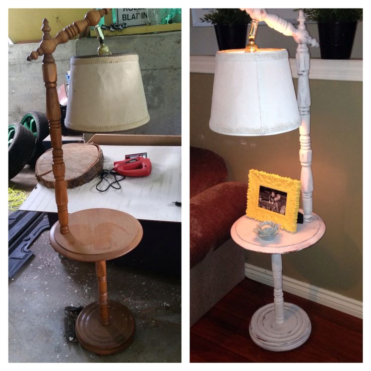 Annie Sloan chalk painted table lamp