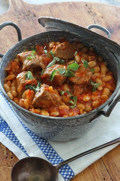 Jeremy and Jane Strode's lamb, white bean and marjoram casserole. Photo: Marco Del Grande