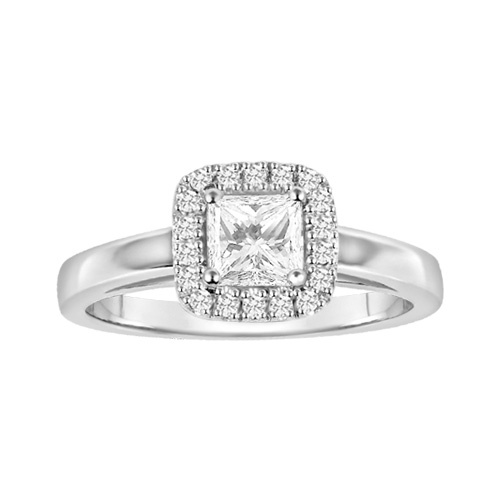 New Canadian Diamond Engagement Ring in White Gold