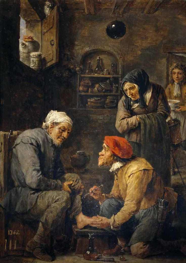 "El pedicuro (""The pedicure""). David Teniers el Joven. 1631-1640. Localización: Museo del Prado (Madrid). https://painthealth.wordpress.com/2017/11/08/el-pedicuro/https://painthealth.wordpress.com/2017/11/08/el-pedicuro/"
