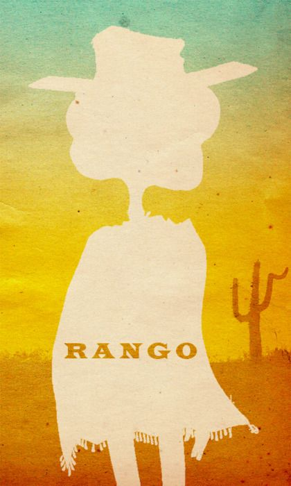 Rango (2011) ~ Minimal Movie Poster by Travis English #amusementphile