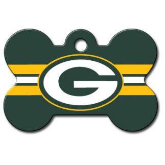 Green Bay Packers NFL Custom Engraved Dog ID Tag - Bone