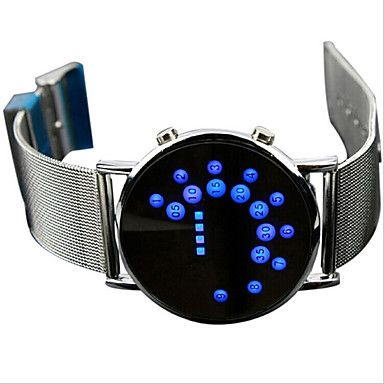 Fashion Men's Black Alloy Date Digital LED Watch Bracelet Sport Watches 5068899 2017 – $11.99