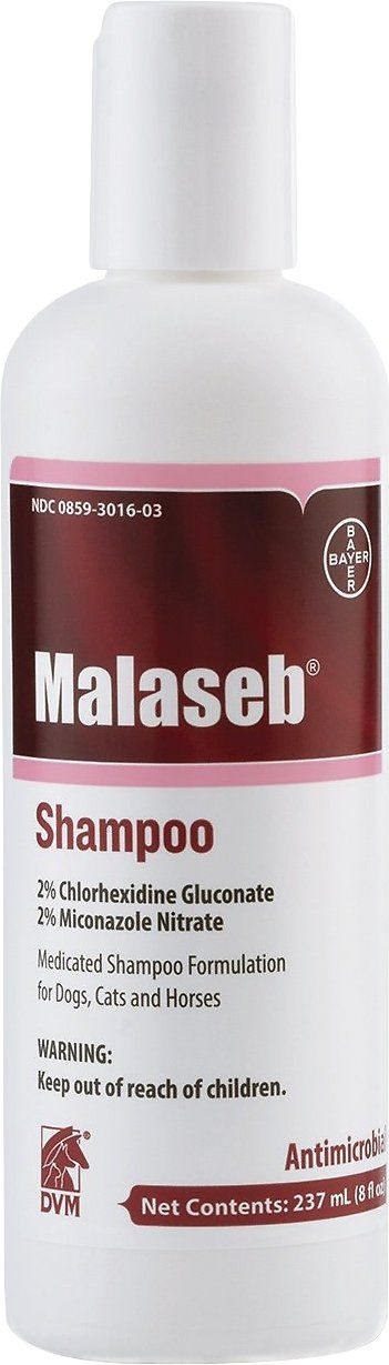 Malaseb Medicated Shampoo for Dogs & Cats combines a unique formulation of antibacterial and antifungal agents with coat conditioners for optimal therapeutic effectiveness. The fragrance-free shampoo base descales and degreases the hair coat without stripping it for a healthy looking coat. Malaseb Shampoo is specially formulated for dermatological conditions associated with bacterial and fungal skin infections responsive to miconazole and chlorhexidine. The active ingredients are gentle o...