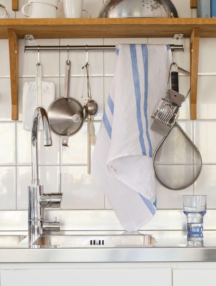 Kitchen towel - denim blue.  100% organic. soysol.com