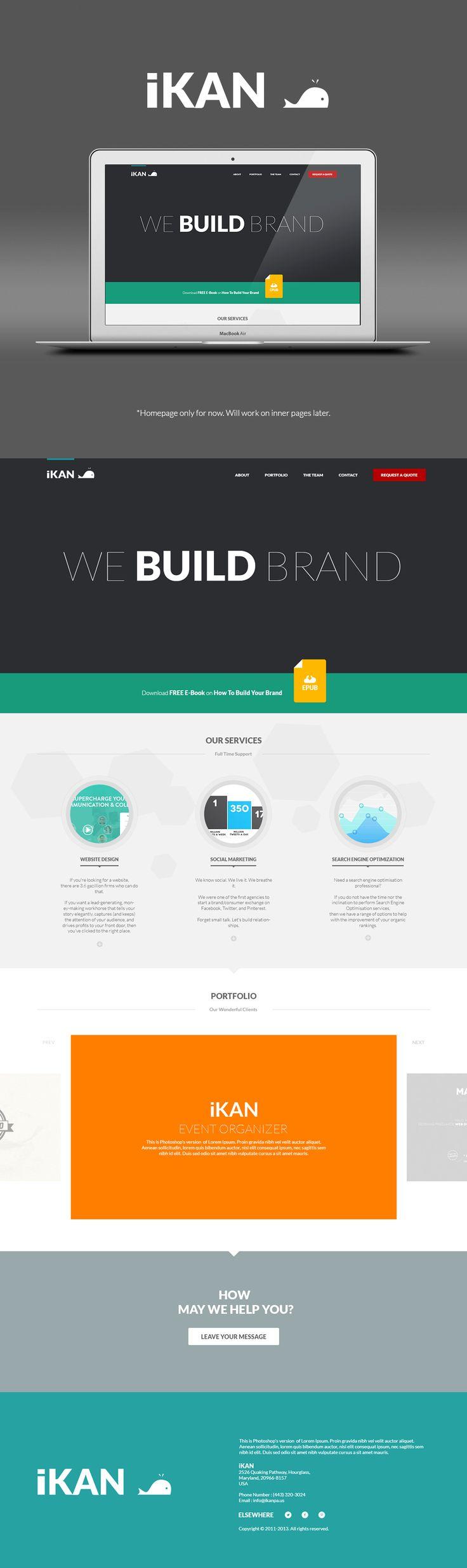 iKAN Flat Design Concept by leoaw.deviantart.com on @deviantART #flat #design #webdesign