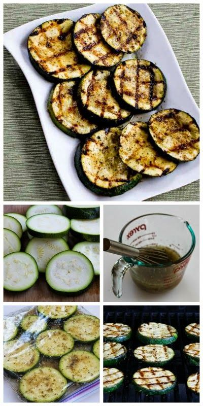 How to Grill Zucchini - Perfect Every Time! I've been using this easy recipe for grilled zucchini for many years and never get tired of it for an easy summer side dish! [from Kalyn's Kitchen] #LowCarb #GlutenFree #SouthBeachDiet #Grilling #SummerFood