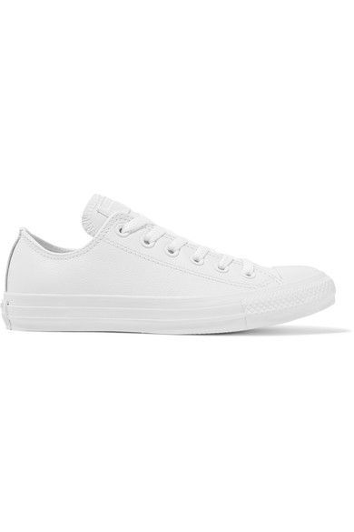 Converse - Chuck Taylor All Star Leather Sneakers - White - UK