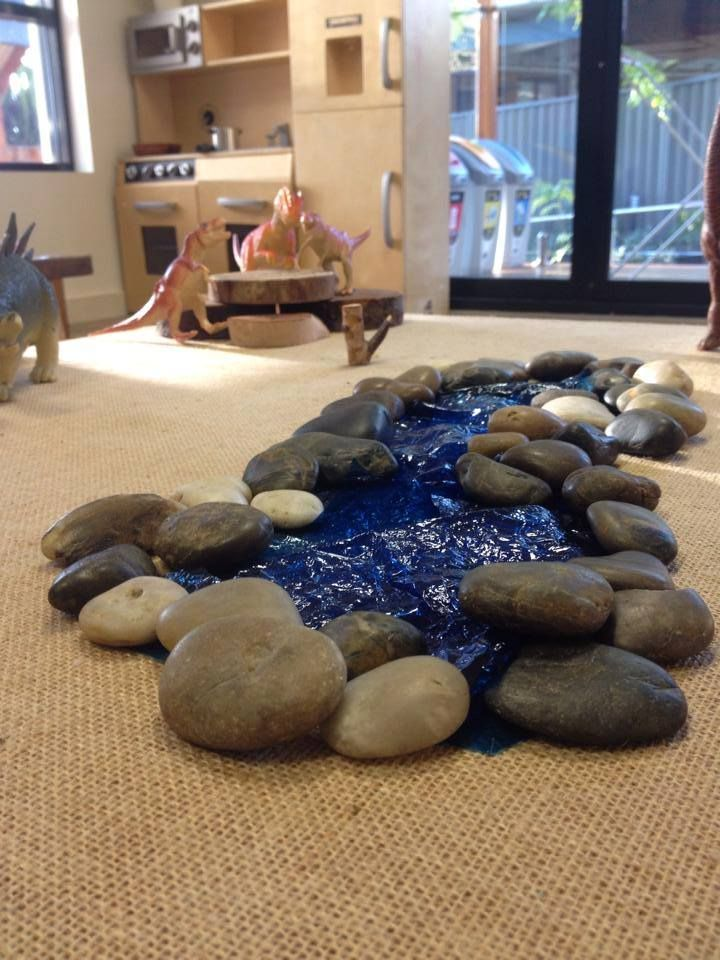 Make a river indoors! Baulkham hills early learning centre via Let the children play ≈≈
