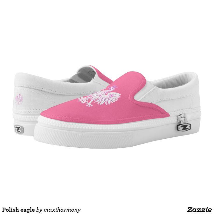 Polish eagle printed shoes