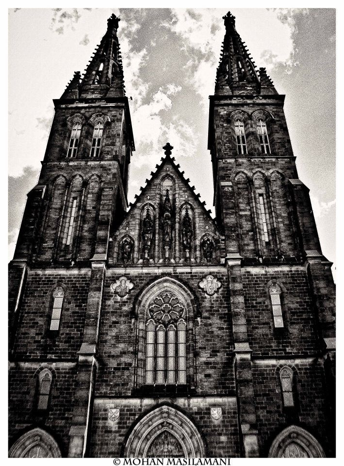 Church in Vysehrad, Prague #photography #bw