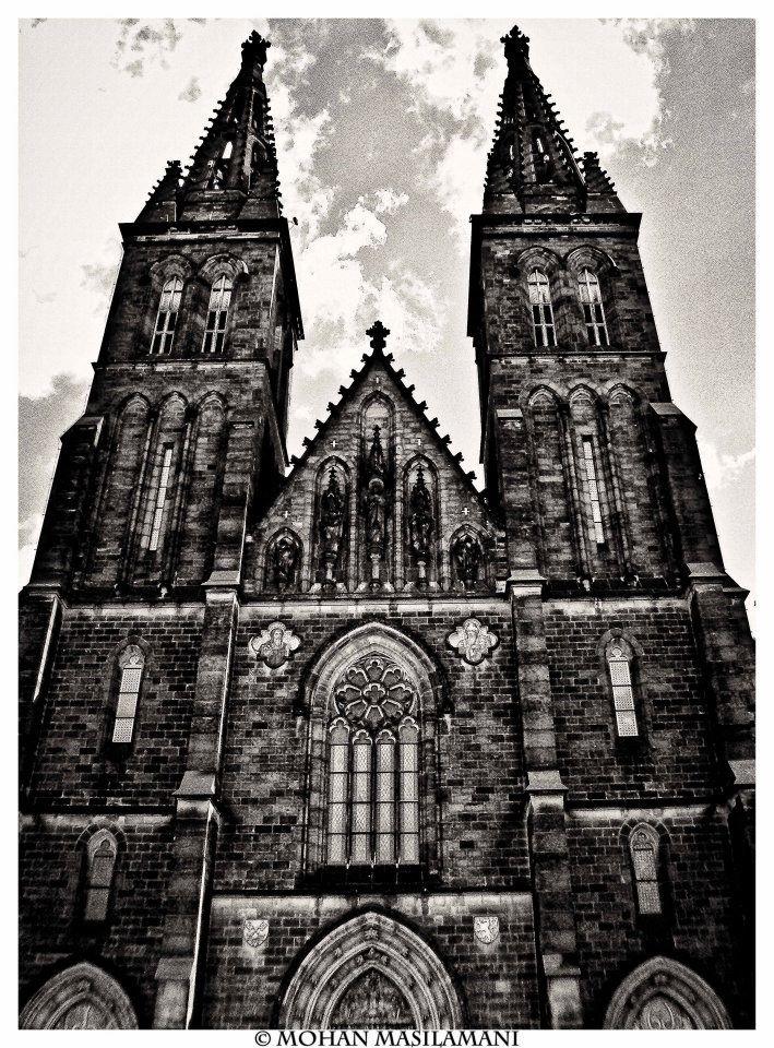 Church in Vysehrad, Prague #photography #bw