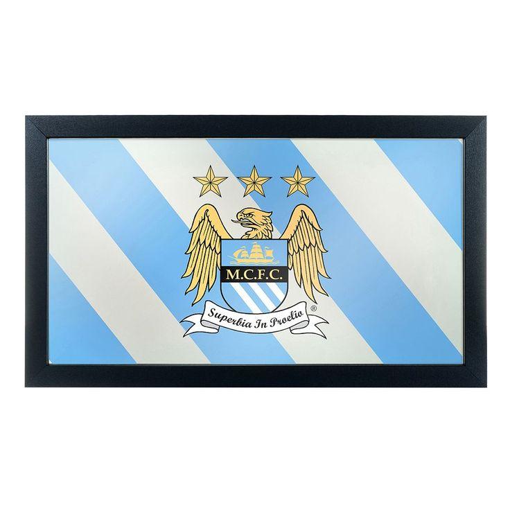 Manchester City FC Framed Mirror, Blue