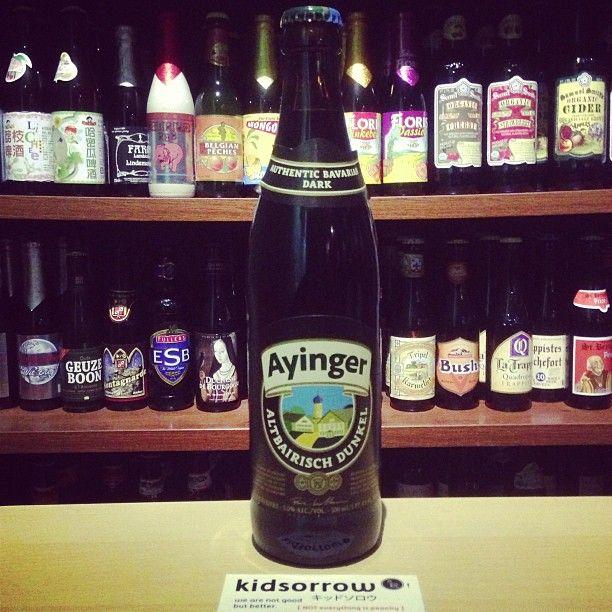艾英格 窖藏黑啤酒│Ayinger Altbairisch Dunkel   泡沫綿密,黑棗核桃糕與龍眼蜜,黑麥汁、烘烤麥芽 #beer #craftbeer