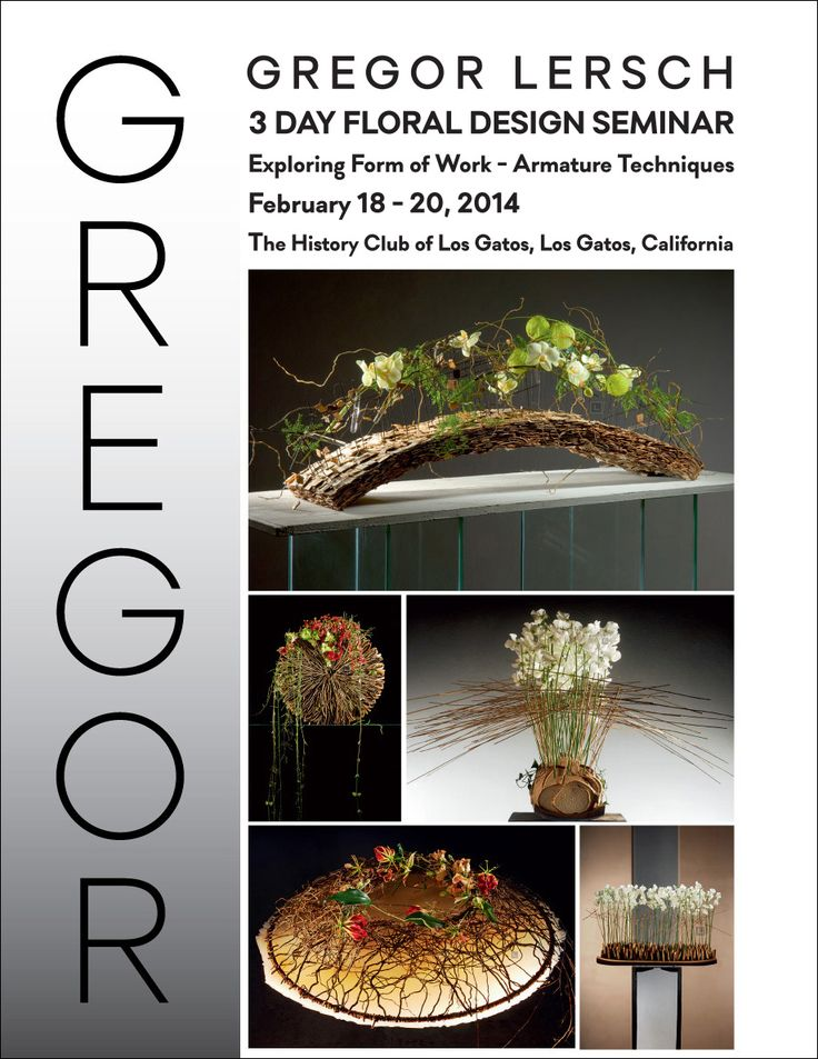 Gregor Lersch Floral Design | Gregor Lersch 3 Day Floral Design Seminar