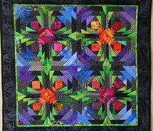 colorful Pineapple: Dee Fractals, Quilts Patterns, Color, Offset Pineapple, Pineapple Quilts, Fractals Pineapple, Fractals Quilts, Quilts Ideas, Logs Cabins Quilts