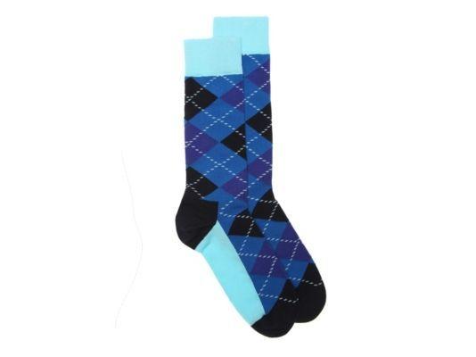 Men's Happy Socks Argyle  Dress Socks - Blue