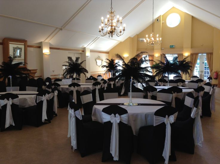 Black Chair Cover With White Satin Sash Seat Covers And