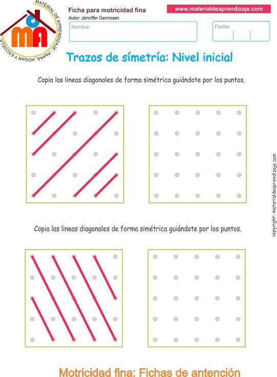 Trazos de simetría: Nivel inicial 2 - Material de Aprendizaje
