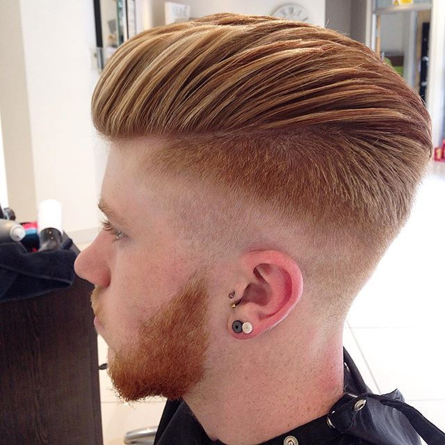 faded hair style 25 best ideas about skin fade pompadour on 1400 | 4f86f0cc65fc3b66143ea51ec927a204 hairstyle trends men hairstyles