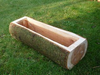 Log planters - Twisted Timber Design
