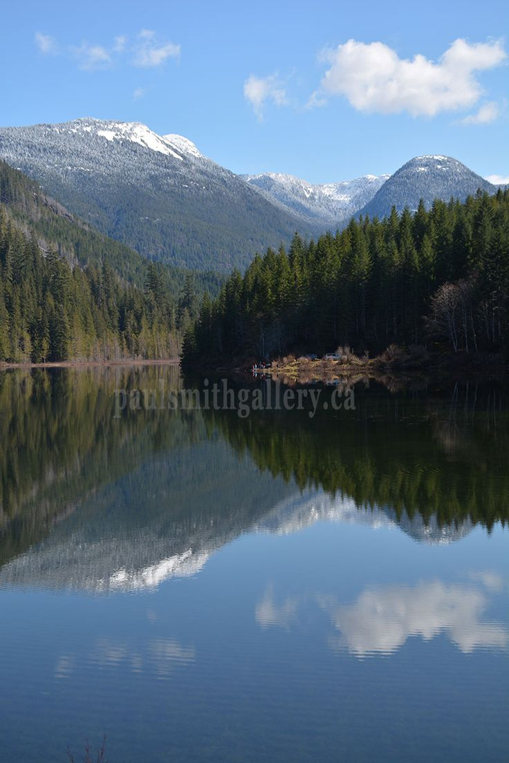 This is Antler Lake in Gold River where I hike a trail that surrounds the lake. http://www.paulsmithgallery.ca