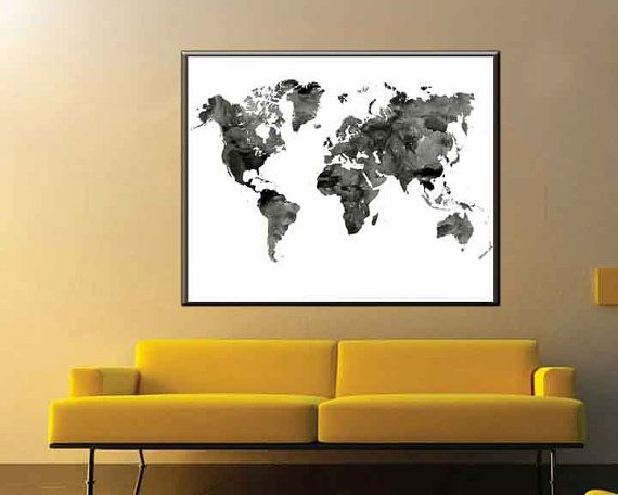 Print No:MAP10 World Map Prints Housewarming gift - Wall Decor  Black and White, World Map, Monochrome Art, World Map Art , World map Wall Art, Black and white Map, Poster Black and white, Large World Map,Black and White World Map, World Map Monochrome, Monochrome World Map,,Map Art, World map Wall Art, Wall Art Black and white, Map Poster Black and white  Printed on quality luster photo paper with archival inks. It is available in a variety of sizes to best fit your interior…