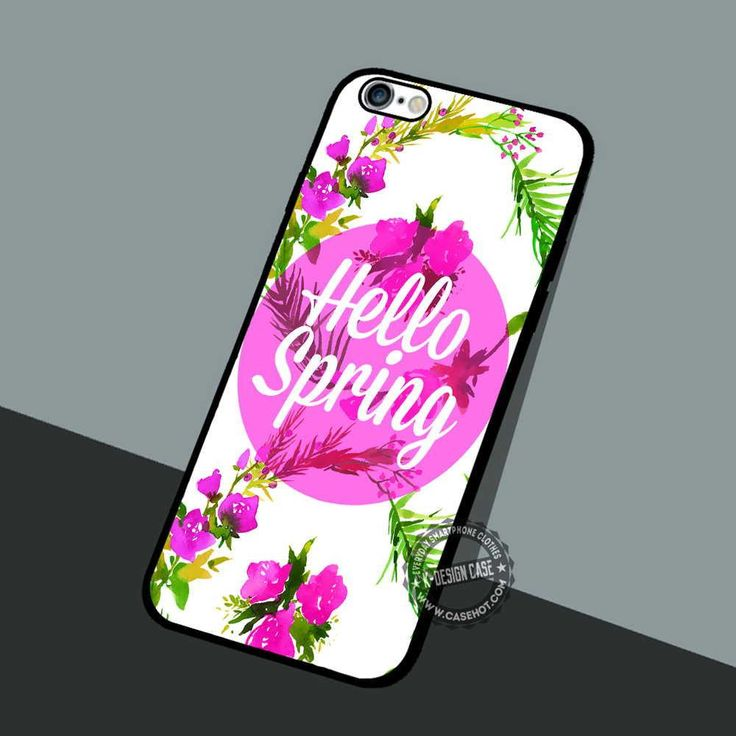 Hello Spring Floral - iPhone 7 6 5 SE Cases & Covers #quote #spring #flowers #iphonecase #phonecase #phonecover #iphone7case #iphone7 #iphone6case #iphone6 #iphone5 #iphone5case #iphone4 #iphone4case