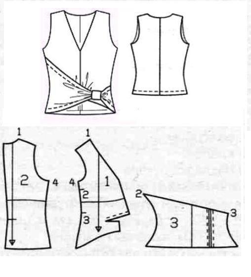 Cosa superior femenino con olor asimétrica cinturón de efecto (ready-patrón y una clase magistral). Debate sobre LiveInternet - Servicio ruso diarios online