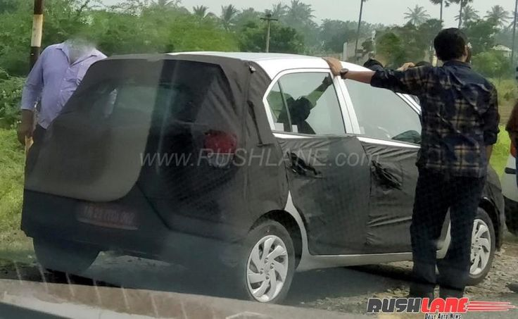 #CarSpy  2018 Hyundai Santro Spotted In India  The all-new Hyundai Santro is slated to be launched in India around mid-2018 and the car will compete with the likes of Renault Kwid and Tata Tiago.  #Cars #Autonews #SpyShots