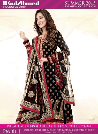 Gul Ahmed Lawn Collection 2015 For Summer