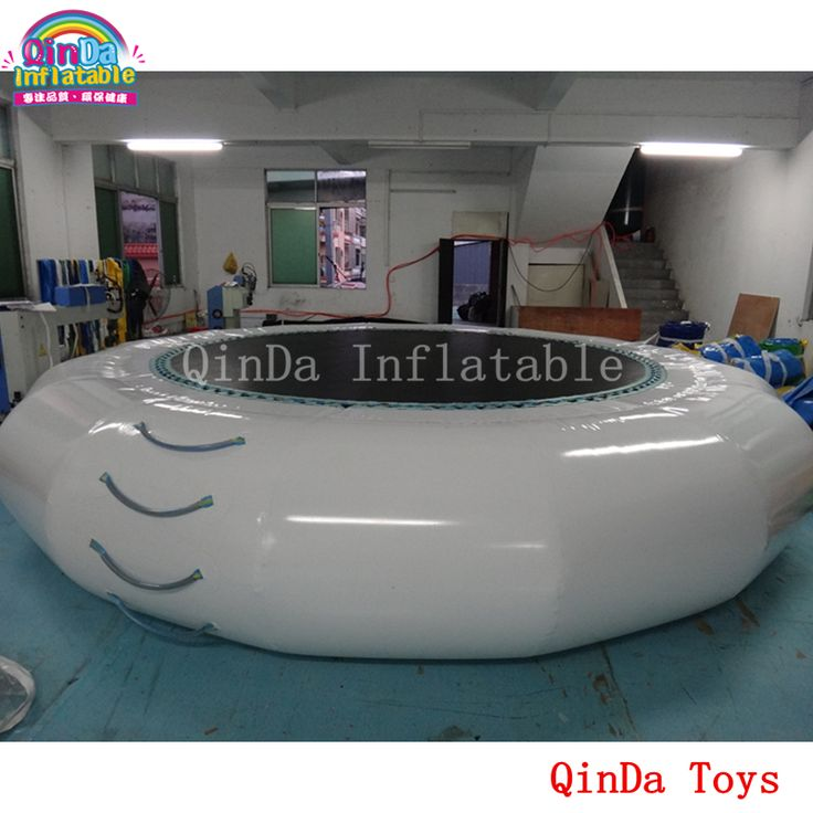 4m*0.65m inflatable water jumping trampoline,free air pump inflatable bounce bed for sale