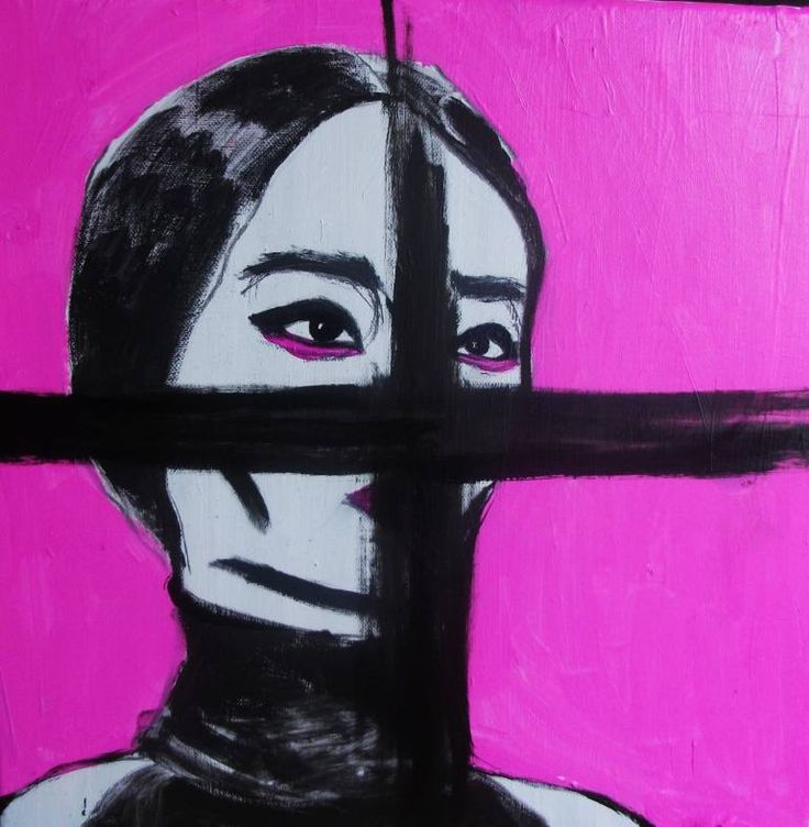 Buy XXI ASIAN, a Oil on Canvas by Gella Goring from Russia. It portrays: Women, relevant to: pink, woman, street art, asian , contemporary art, modern art, face, abstract, girl, interior_art It's hard to be ulzzang queen. I need to have become disillusioned with my real soul