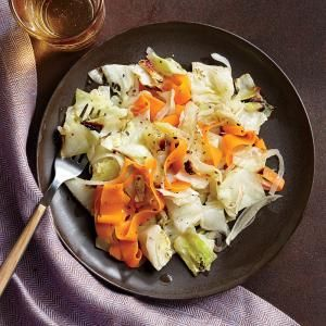 Caribbean-Style Roast Cabbage with Carrots Recipe #cookinglight