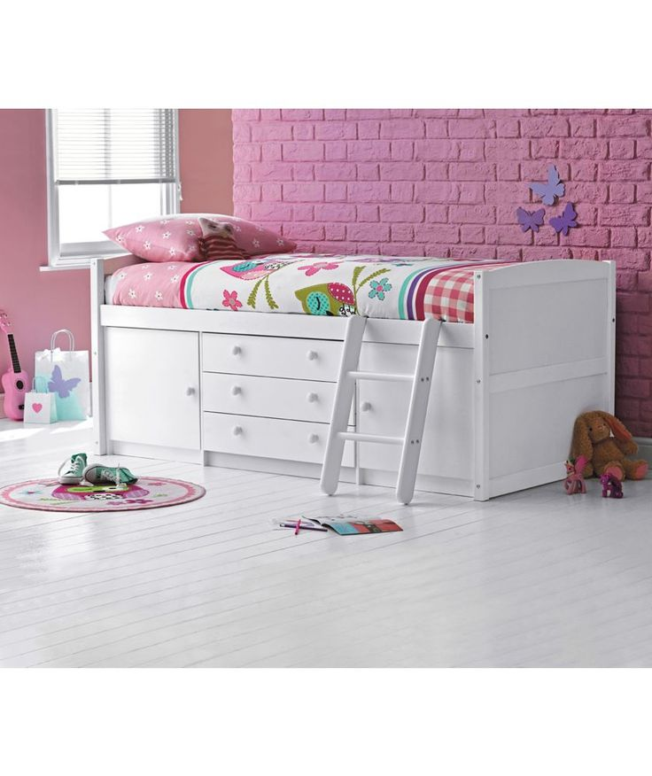 Buy Tory Single Mid Sleeper Bed Frame - White at Argos.co.uk - Your Online Shop for Children's beds, Children's beds.