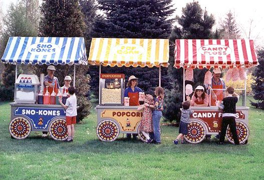 Circus Party Foods FT Carnival Food Cart With
