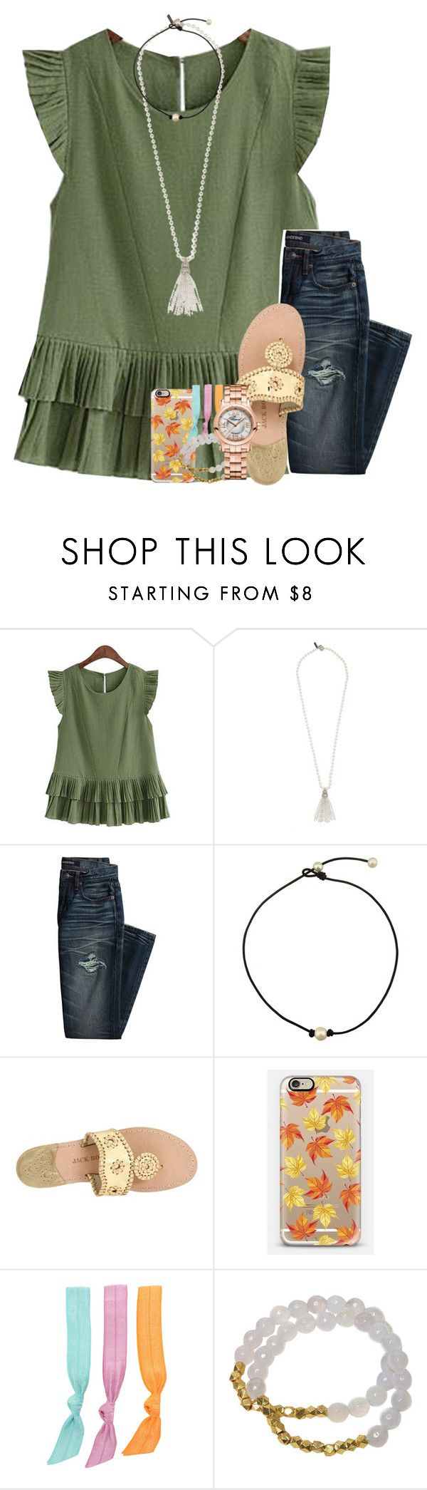 """""""almost exact ootd"""" by legitmaddywill ❤ liked on Polyvore featuring Oscar de la Renta, Canvas by Lands' End, Jack Rogers, Casetify, Splendid, Electric Picks and Chopard"""