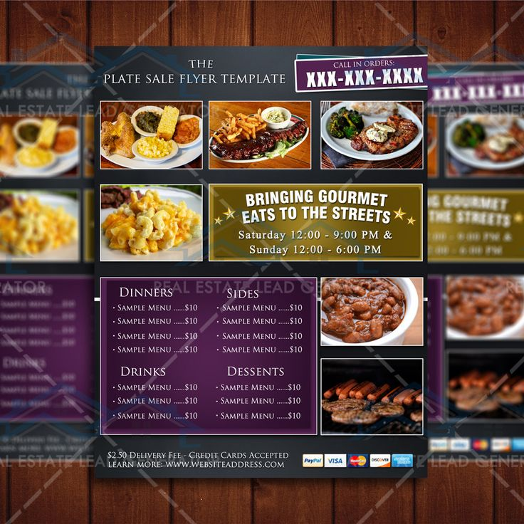 The Plate Sale Flyer Template Fundraiser Flyer Template, Food - sample menu template