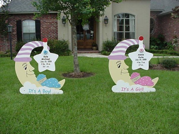 13 best Yard baby announcement images – Baby Announcement Lawn Signs