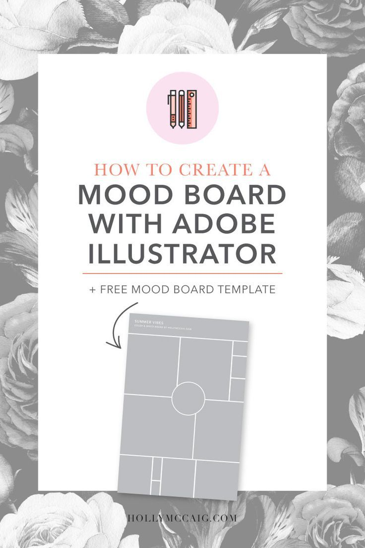 You probably think those color mood board are pretty and fun to look at, but as a graphic designer that does brand design they serve a much more important purpose to us. I'm going to share with you why you need one and how to create a mood board with Illustrator. http://hollymccaig.com/how-to-create-a-mood-board-with-illustrator/