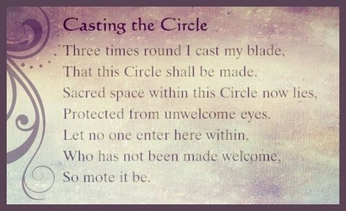 Book of Shadows:  Casting the Circle.