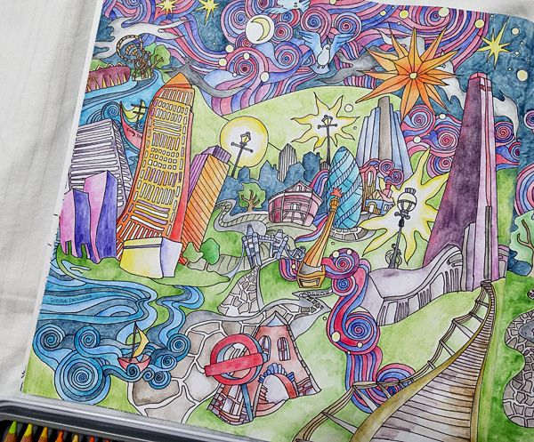 The Magical City : London Panorama - left page.